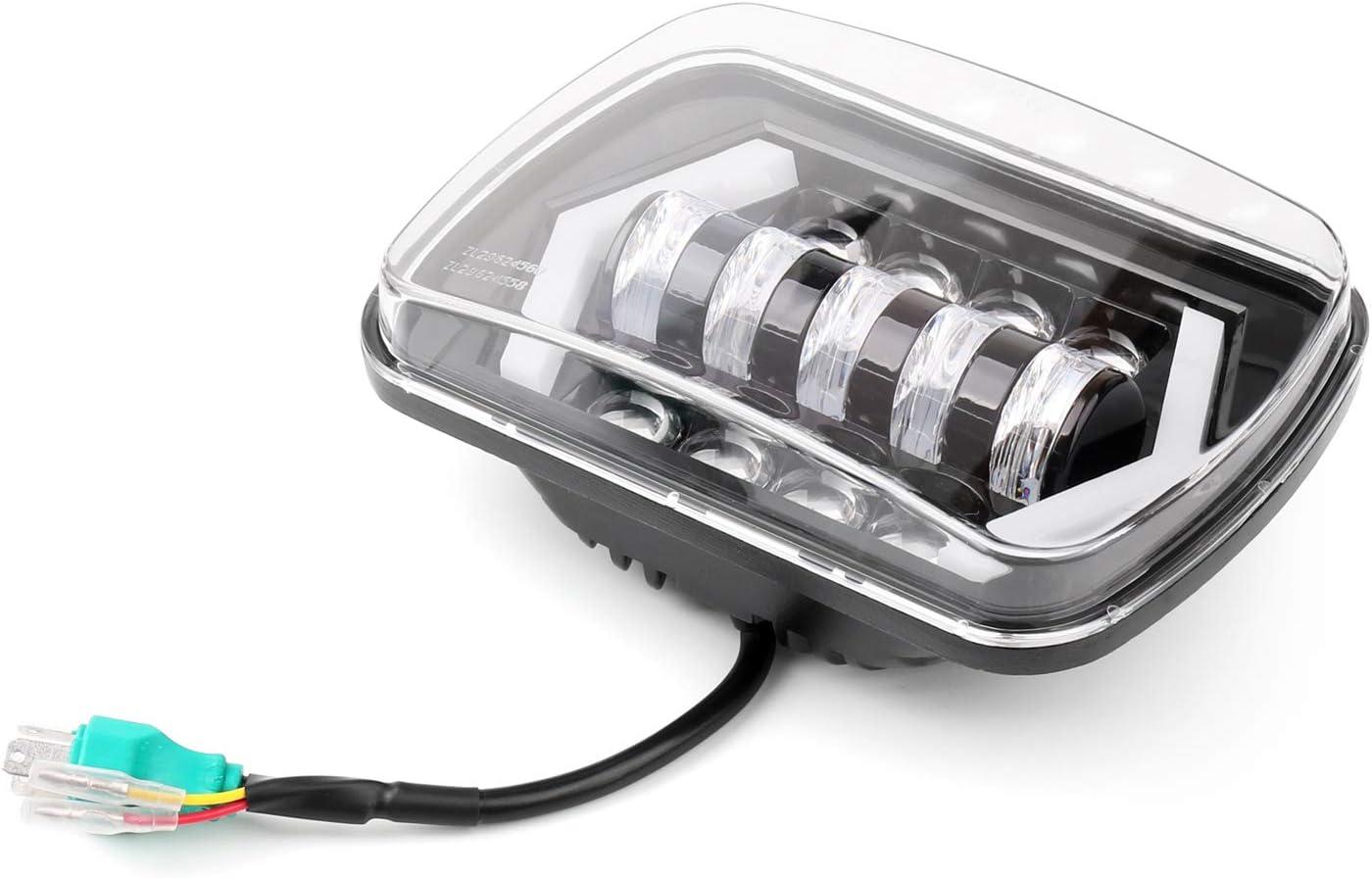 Topteng 55W 7x6 5X7 LED projecteur de phare Salut-Lo faisceau DRL Halo J-e-e-p XJ Cherokee
