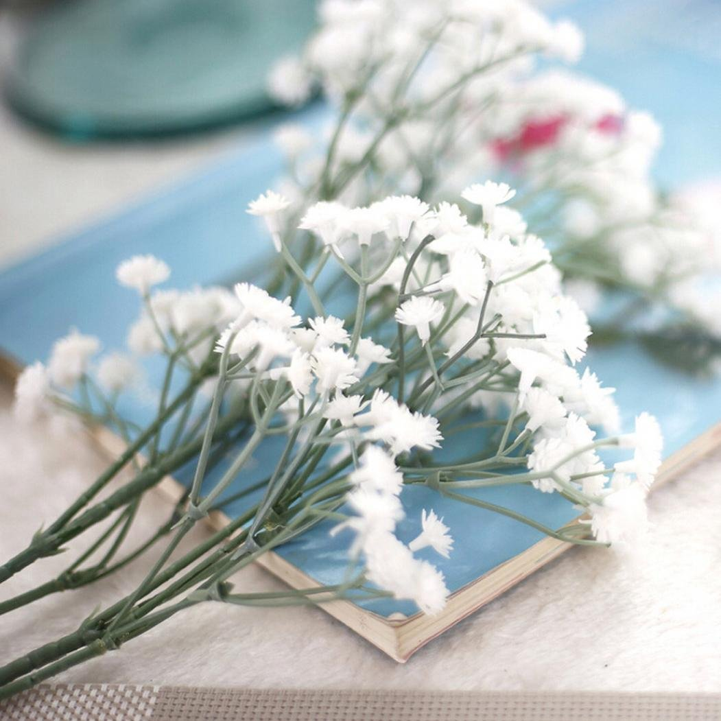 Miklan人工フェイクシルクGypsophilaフローラルフラワー結婚式パーティーブーケホーム装飾 B0797LR7RT