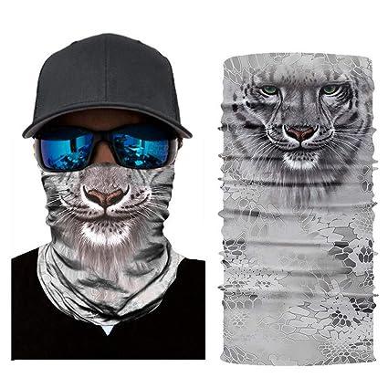 GodChos 3D Animals cara sol máscara cuello gaiter, diadema ...