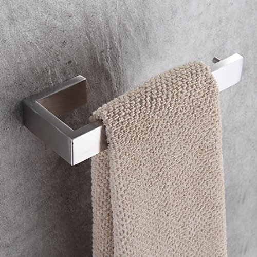 Fapully Bathroom Hardware Stainless Steel Wall Mounted Towel Bar,Brushed Nickel Finished (Brushed Nickel Towel Racks)