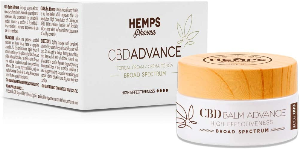 Crema de cáñamo Hidratante, Antiedad y Calmante natural. Ingredientes naturales CBD (Broad spectrum) Ácido Hialurónico - 30ml | Hemps Pharma – CBD Balm Advance