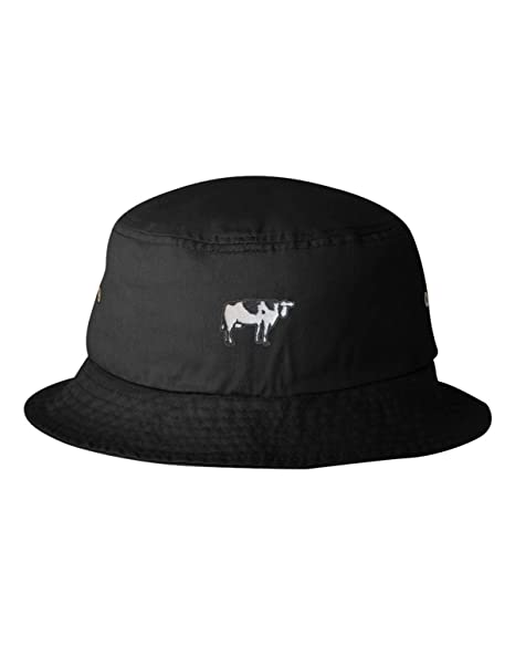 9b73af1a21c Amazon.com  Go All Out One Size Black Adult Cow Embroidered Bucket ...