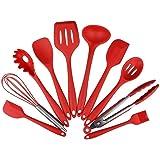 Conjunto de utensilios de cocina, utensilios de cocina de silicona Juego de 10 piezas Set de utensilios antiadherentes…