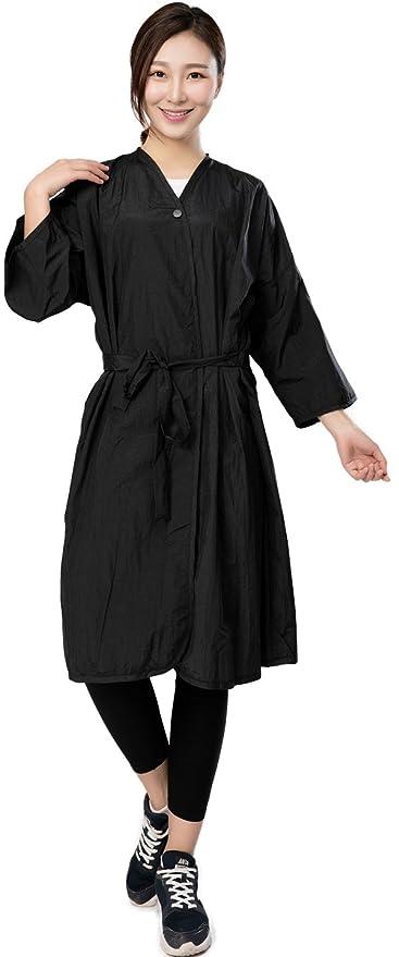 Bata de peluquería para cliente, Capa de corte para peluquería – Estilo kimono, con