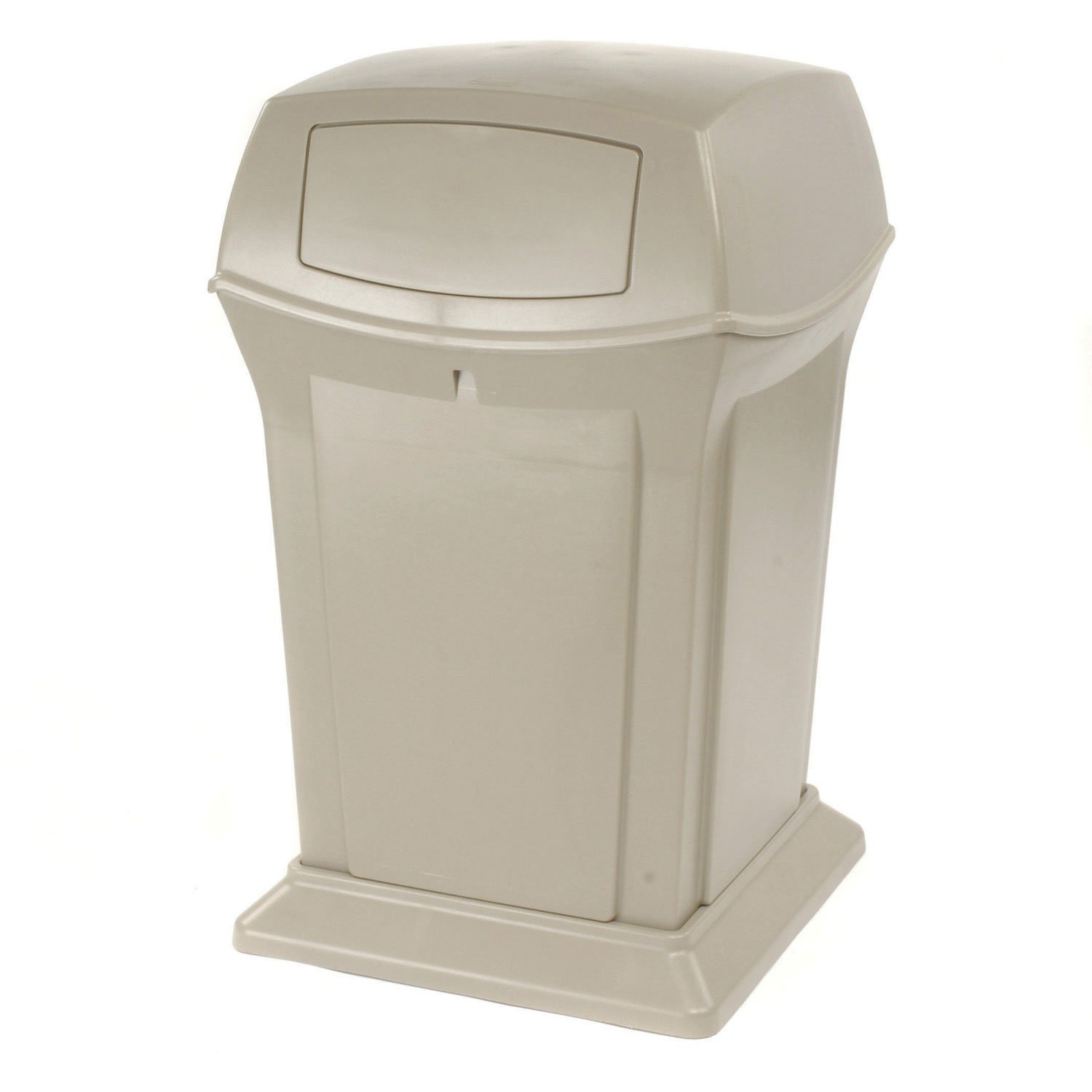 Rubbermaid Commercial Ranger Container with 2 Doors, 45 Gallon Capacity, 24-7/8-Inch Length x 24-7/8-Inch Width x 41-1/2-Inch Height, Beige (FG917188BEIG ) by Rubbermaid Commercial Products