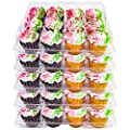 5 Plastic Cupcake Carrier Box 12 Slot Holder Container Disposable Tray Transport