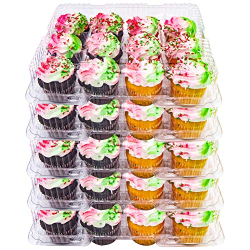 5 Plastic Cupcake Carrier Box 12 Slot Holder Container Disposable Tray Transport]()