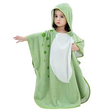 Small Coton Rose UULMBRJ Children Serviette de Bain /à Capuche Dinosaure pour b/éb/é Robe de Bain Plage Poncho de Natation pour gar/çons et Filles