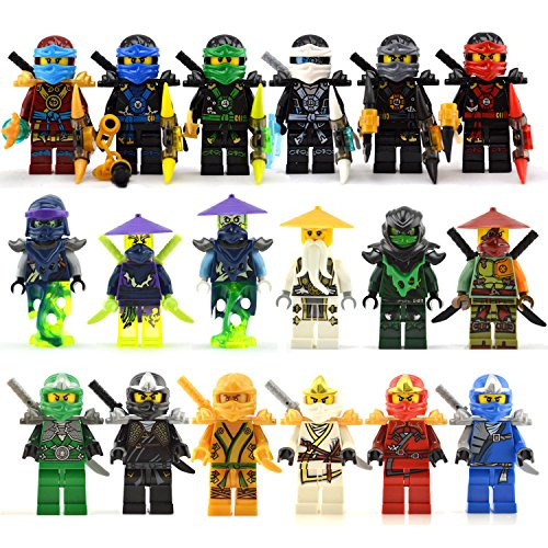 [18 lot ninja minifigs ninjago Nya Jay Iloyd Building block Toys lot Wu Robin] (Diy Toothless Dragon Costume)