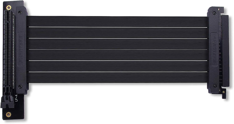 Phanteks PH-CBRS_FL22 – 220mm Pci-E X16 Riser Cable, 90 Degree Adapter, EMI Shielded, Slim Design