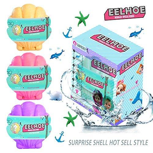 EELHOE Surprise Shell Dolls Marine Series Confetti Pop Special Limited Edition Dolls 2018 Marvelous Marine Mini Biological Random Combination Accessories (Purple)