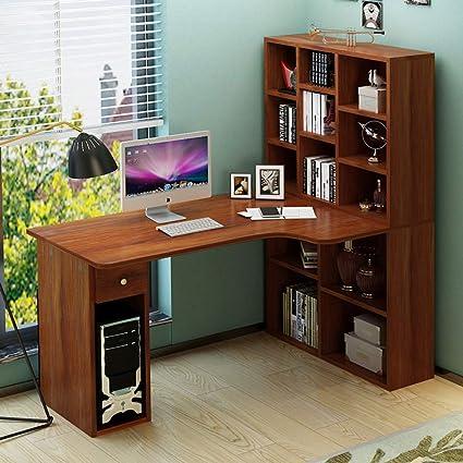 Libreria Ad Angolo Con Scrivania.Xqy Scrivania Per Computer Tavolo Per Computer Ad Angolo