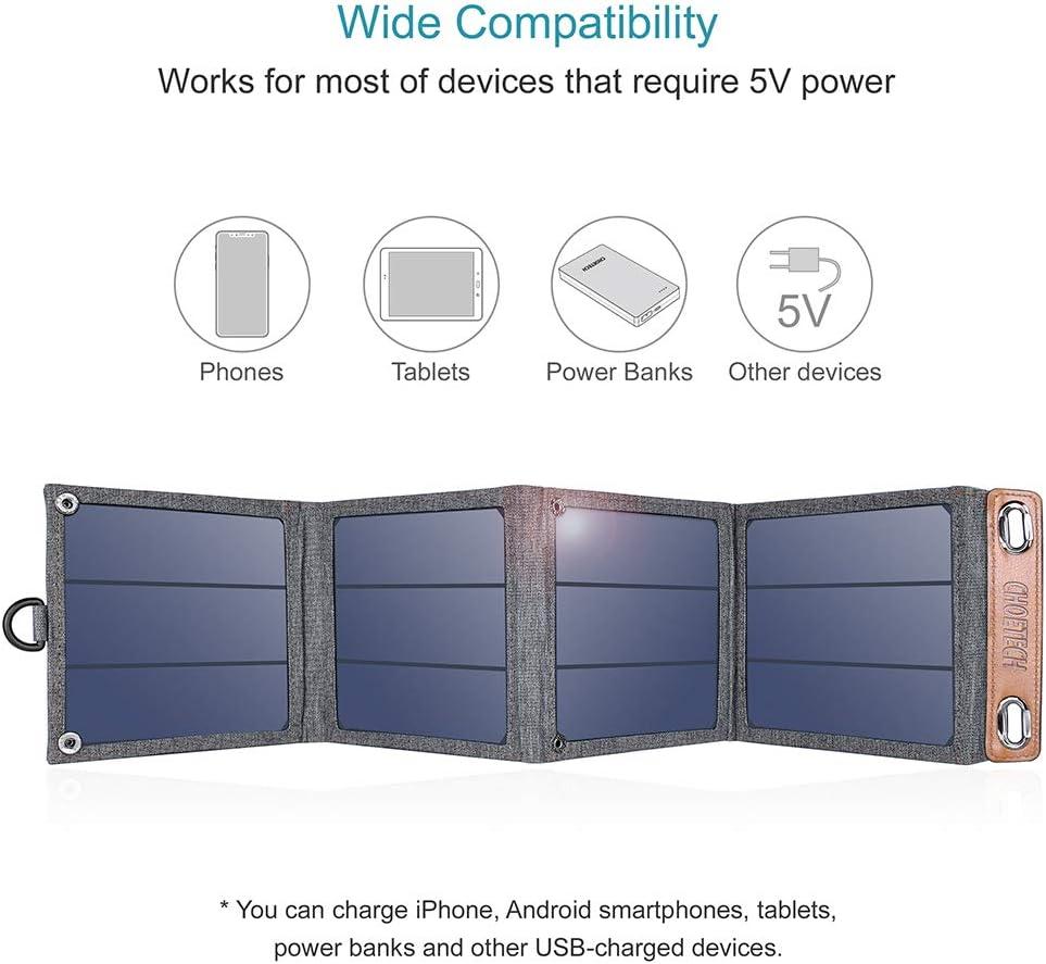 análisis cargador Solar Plegable Choetech