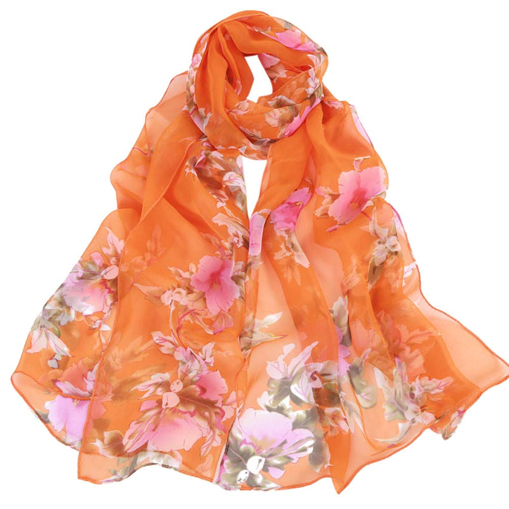 Ladies PEACH BLOSSOM Quality Large Scarf Warp