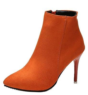 chaussures de sport 4acc4 a5319 Easemax Femme Classique Talon Aiguille Low Boots Bottines ...