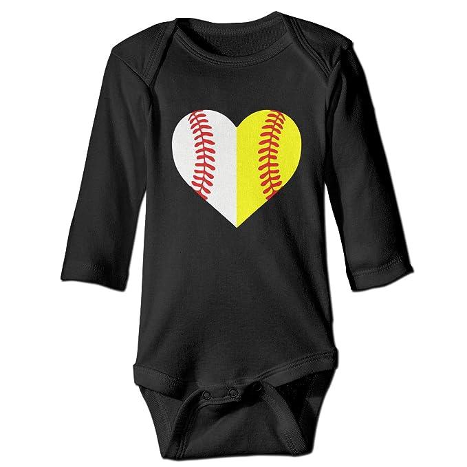 Amazon.com: Béisbol Softball estampado unisex bebé manga ...