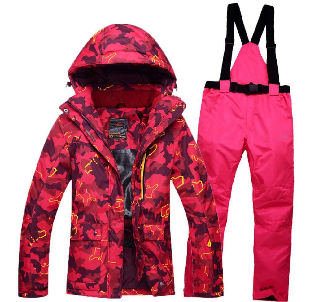 L Z&X Veste de Ski pour Femme - Veste pour Femme Chaude et résistante à la Neige, Manteau de Ski doublé en Polaire, Manchette Ajustable - VêteHommests de Ski idéals