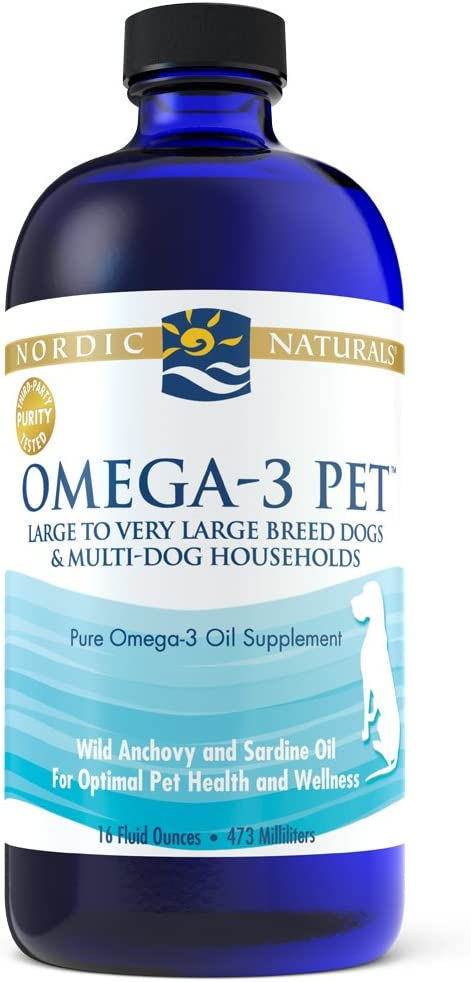Nordic Naturals Omega 3 Pet – Fish Oil Liquid for Cats and Dogs, Omega-3s, EPA and DHA Supports Skin, Coat, Joint and Overall Health, in Triglyceride Form for Optimal Absorption