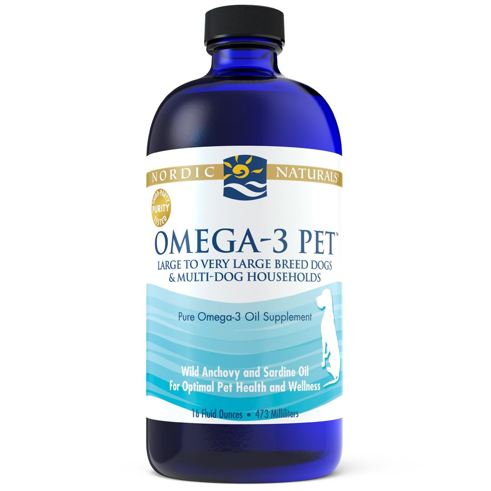 Nordic Naturals Omega-3 Pet Oil Supplement, Promotes Optimal Pet Health and Wellness, for Large to Very Large Breed Dogs and Multi-Dog , 16 oz - Standard Packaging