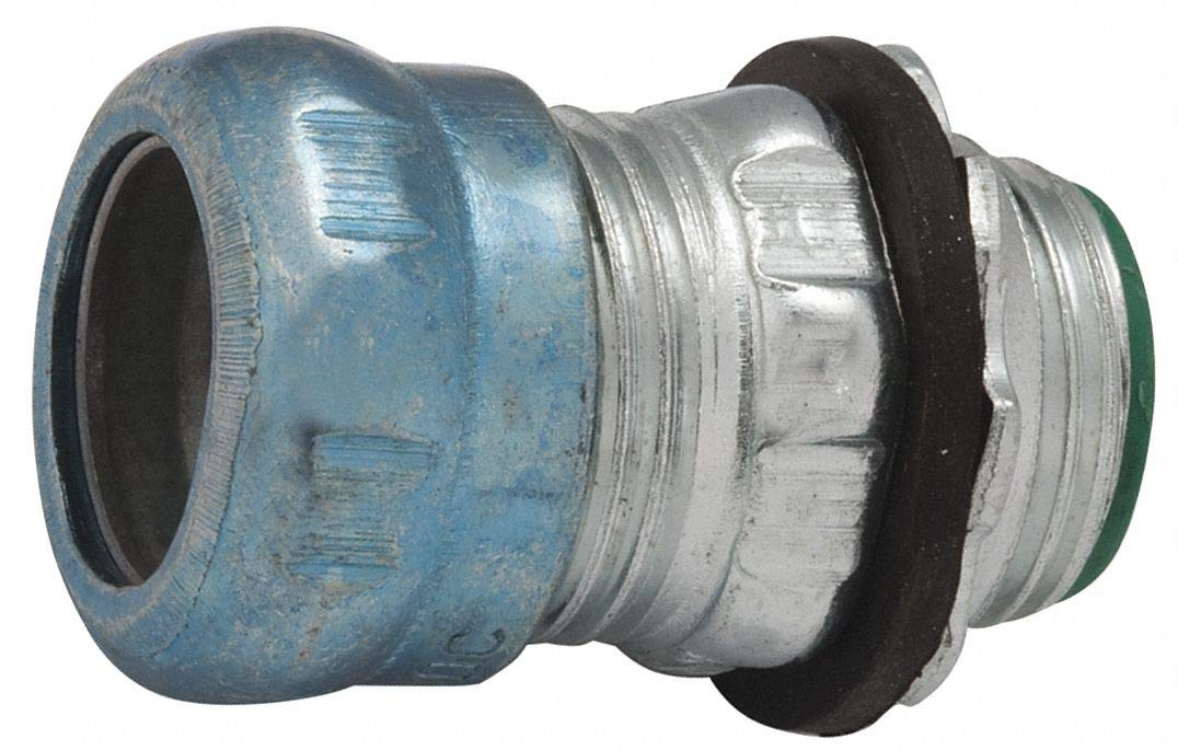 1-1/2'' EMT Insulated Compression Connector, Rain Tight, 2-1/4'' Overall Length