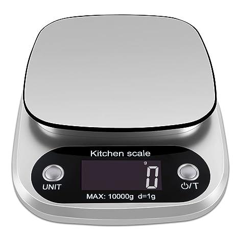 oppsk Digital Báscula de cocina de escala de alimentos con retroiluminación LCD de pantalla multifunción,