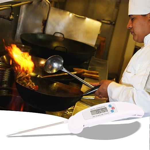 Amazon.com: eDealMax 110 mm Sonda de lectura instantánea digital de cocina barbacoa carne termómetro del alimento: Kitchen & Dining