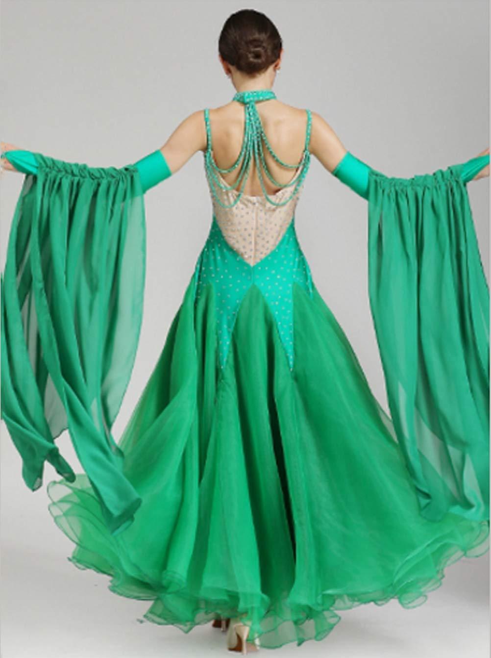 Wangmei Wangmei Wangmei Ballsaaltanz Kleider Moderne Performance Kostüme für Damen Walzer Tango Glattes Kleid Wettbewerb Tanzbekleidung, XL B07MJ23LNQ Bekleidung Erschwinglich f1b754