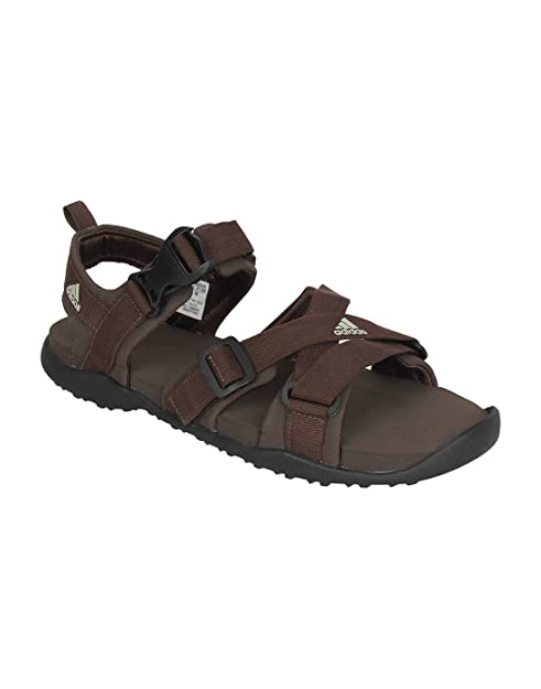 9737d2fe1 Adidas Gladi Brown Men Sandals-9UK  Buy Online at Low Prices in India -  Amazon.in