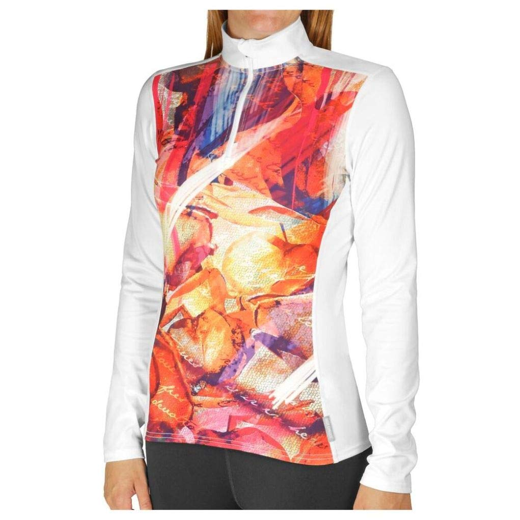 Hot Chillys Womens Micro-Elite Chamois Sublimated Print Zip-T