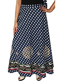 Maple Clothing Designer Wrap Around Cotton Long Maxi Indian Skirt Womens Clothes
