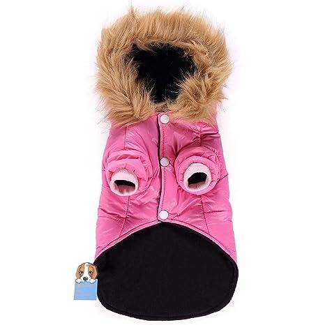 Augproveshak Chaqueta de Abrigo de Perro de Invierno Sudaderas con Capucha Ropa Capa Impermeable para Perros