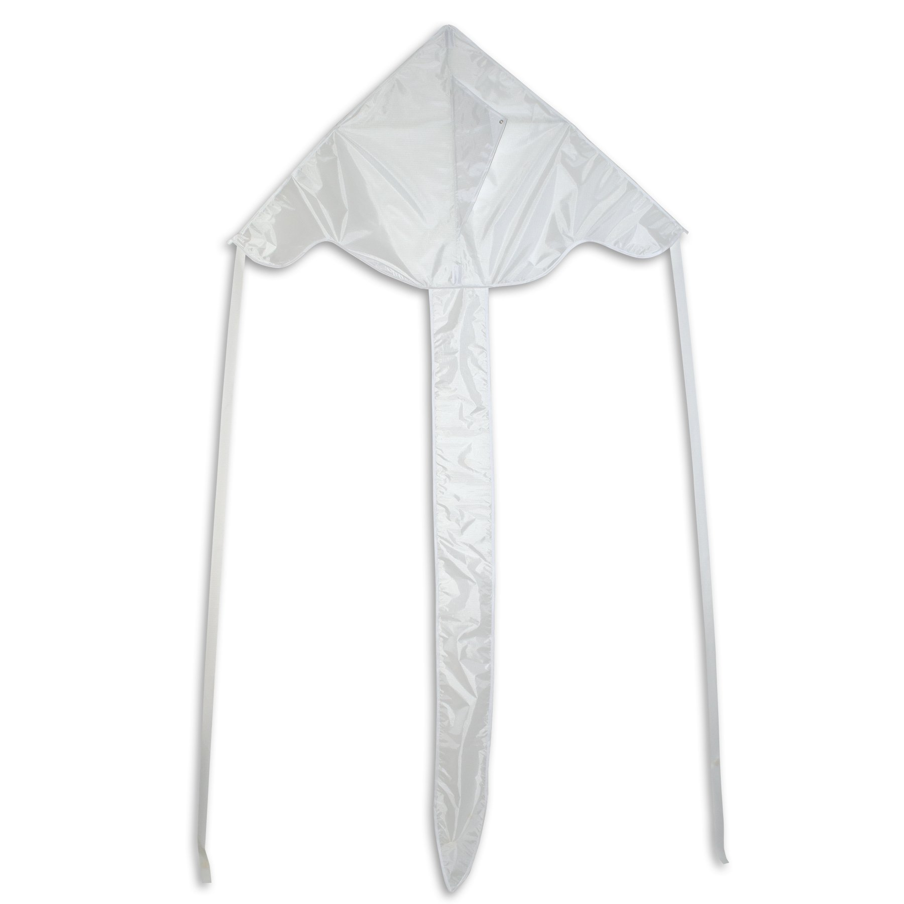 In the Breeze White 43 Inch Fly-Hi Kite - Single Line - Ripstop Fabric - Includes Kite Line and Bag by In the Breeze