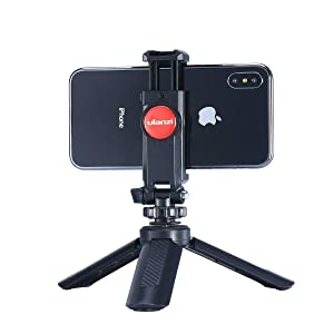 ULANZI ST-06 Camera Hot Shoe Phone Tripod Mount 360 Rotation with Cold Shoe for Mic Light Stand Compatible with Canon Nikon Sony DSLR Camera