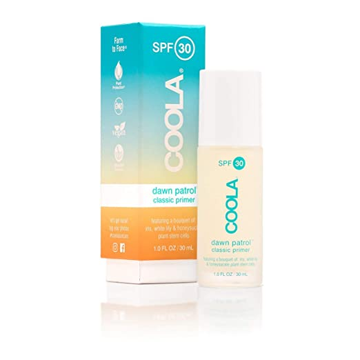 The COOLA Dawn Patrol Makeup Primer Sunscreen travel product recommended by Adina Mahalli on Pretty Progressive.