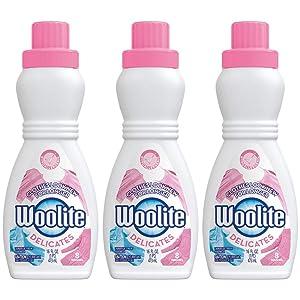 Woolite Delicates Hypoallergenic Liquid Laundry Detergent, 16 fl oz Bottle, Hand & Machine Wash (Pack of 3)