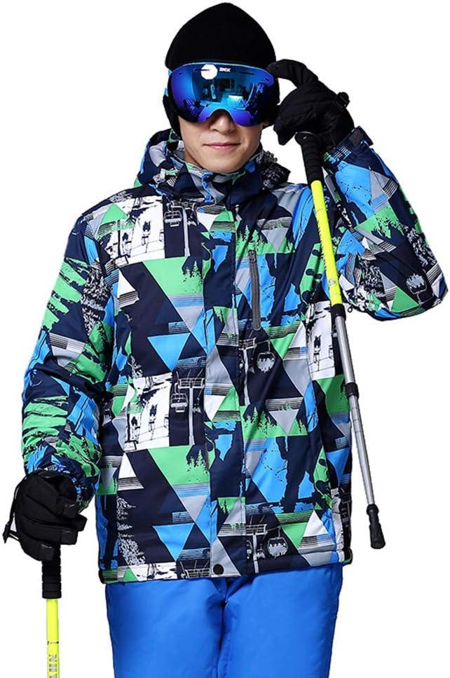 ウインドブレーカー登山旅行ハイキングスキートレッキング用防水フード付きジャケットジップ冬のコート,ブルー,XXL