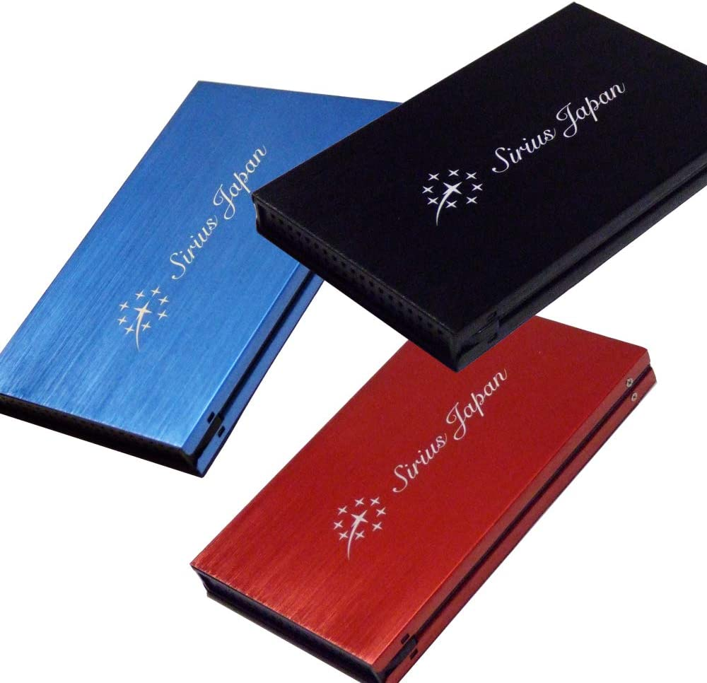 External Drive Case Blue Sirius SSD Case 【Color:Red Black】【3 Pieces】 3 Colors 2.5Inch SATA 3 Available for HDD ESD3-Rbbkc3