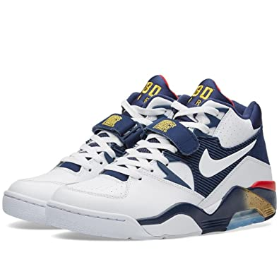 Nike Herren Air Force 180 Basketballschuhe Blanco Azul Amarillo