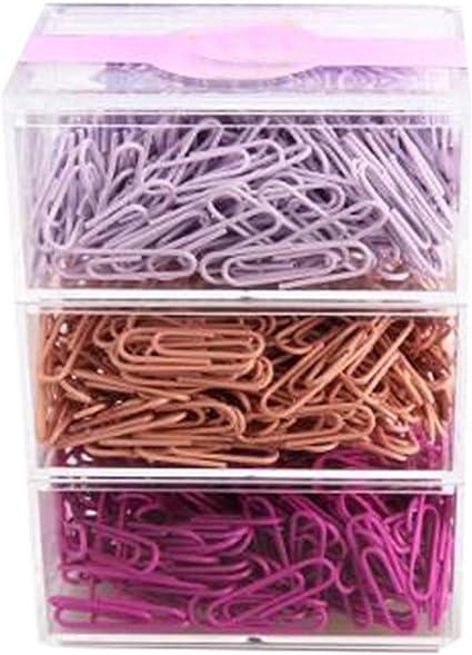 B] Clips de papel de colores Clip de papel creativo, 28 mm, 200 / caja, 3 cajas: Amazon.es: Oficina y papelería