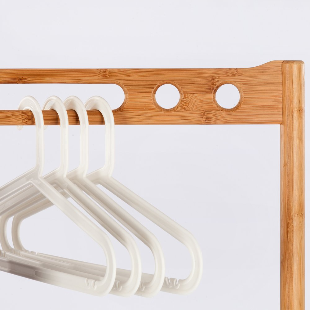 Amazon.com: Perchero de bambú para ropa, multifuncional ...