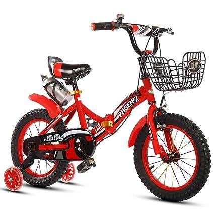 YYS Bicicleta for niños Plegable, 2-4-6-7-8-9-10 años de ...