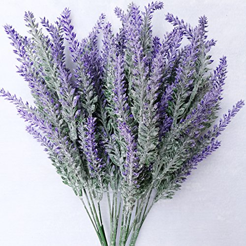 Artificial Purple Lavender Flower for Home Wedding Party Decoration ()