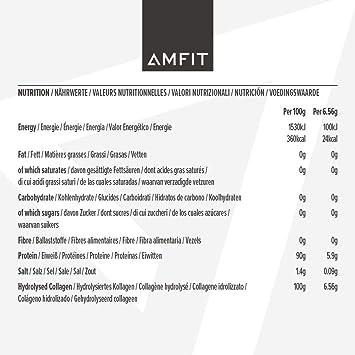 Marca Amazon - Amfit Nutrition Proteína de colágeno, sabor natural, 454 g (anteriormente PBN)