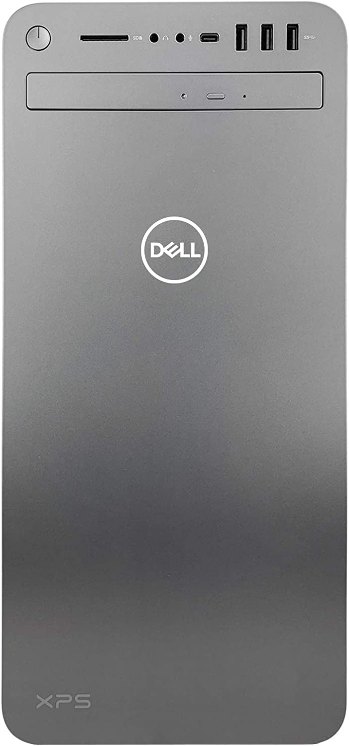Dell XPS 8930 Special Edition Tower Desktop - 9th Gen Intel 8-Core i9-9900K CPU up to 5.00 GHz, 64GB RAM, 1TB SSD + 1TB Hard Drive, NVIDIA GeForce GTX 1050Ti 4GB, DVD Burner, Windows 10 Pro, Silver