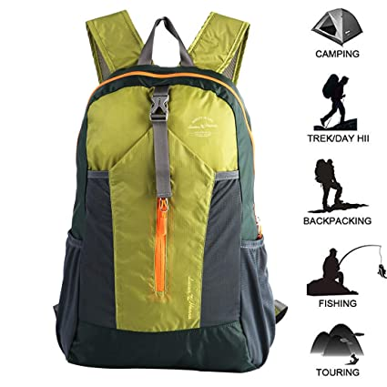 dcb84b79ed Ultra Lightweight Packable Water Resistant Travel Hiking Backpack Handy Foldable  Daypack 20L