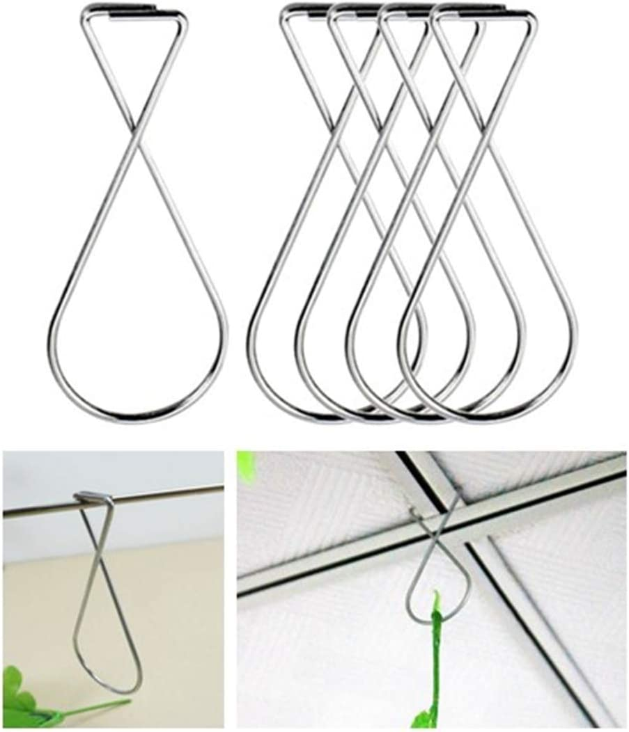 100PCS Ceiling Hook Clips, Ceiling Hanger Tile Hooks, Drop Ceiling Clips, Ceiling Hooks T-bar Clips for Office, Classroom, Home,Wedding Decoration, Hanging Sign from Suspended Tile/Grid/Drop Ceilings