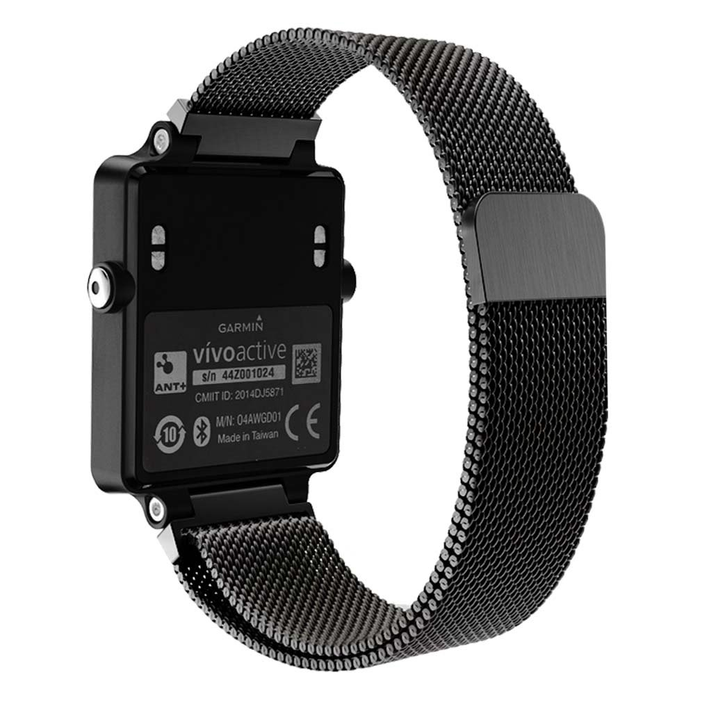 Garmin Vivoactive Watch band, Kuxiu Magnetic Milanese Loop Stainless Steel Wristband Strap for Garmin Vivoactive Fitness Smart Watch