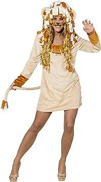NET TOYS Disfraz Mujer León - ES 40/42 (S/M) | Vestido Leo | Traje ...