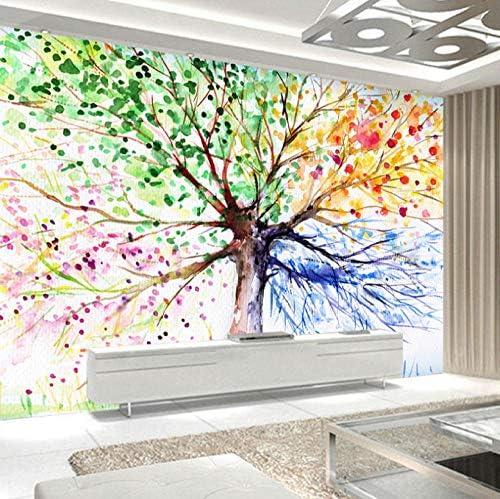 Lcymt カスタム写真の壁紙3D手描きのキャンバスツリーリビングルームベッドルーム家の装飾壁壁画壁紙-280X200Cm