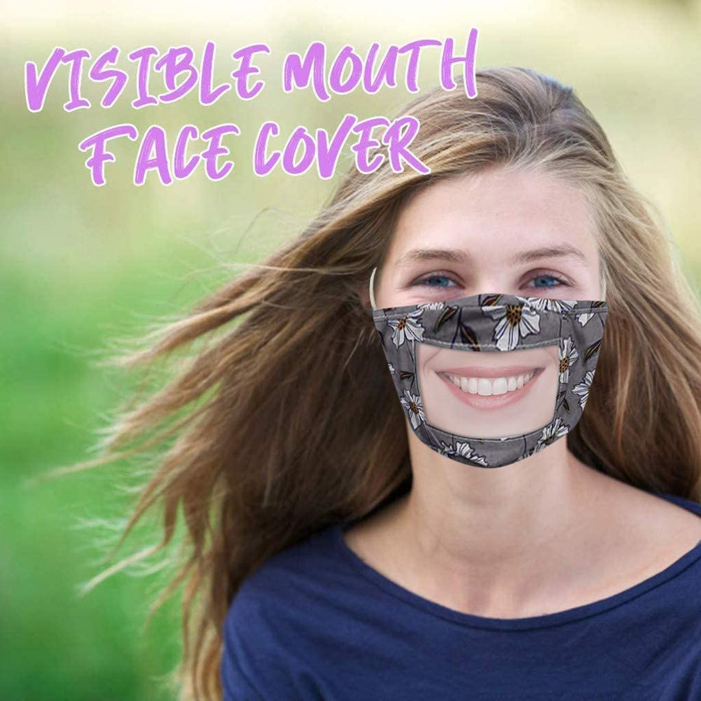 JSPOYOU Smile Communicator Face With Clear Vinyl Mouth Expression Lip Reading